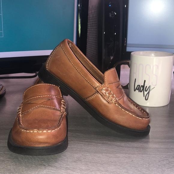 887465e754d Genuine Leather Cognac Loafers!